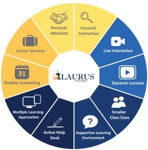 Laurus Experience wheel showing 10 items that Laurus delivers